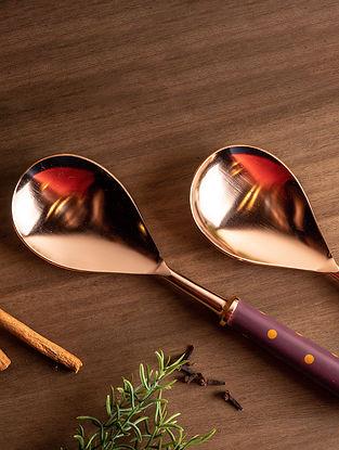 Copper Fia Serving Spoon (Set Of 2)