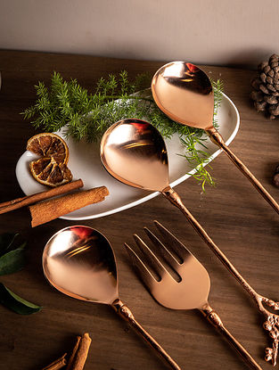 Copper Coral Serving Spoon (Set Of 2)