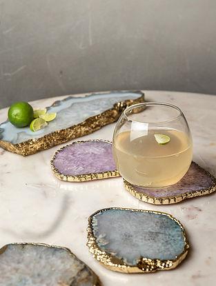 Multicolour Agate Coaster (L-4in W-4in)