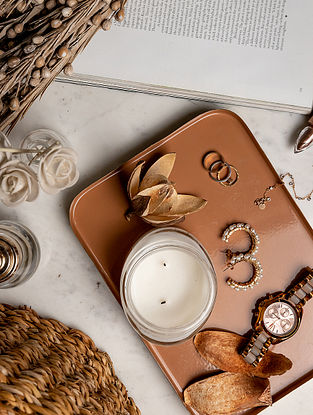 Copper Cooee Tray (L-9.75in W-7.25in H-0.75in)