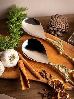 Gold Botanical Serving Spoon (Set Of 2)