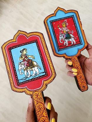 Multicolored Handpainted Wooden Raja Rani ( Set of 2)