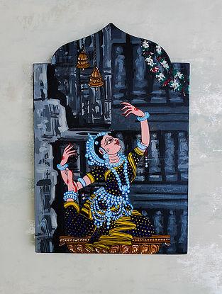 Multicolored Odissi Pose Minaret Style Wall Plate