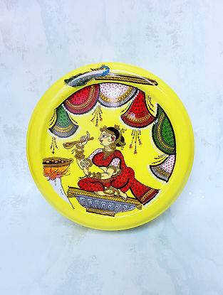 Multicolored Handpainted Kitchen Pattachitra Stainless Steel Spice Box