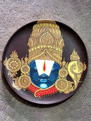 Multicolored Balaji Wooden Wall Plate