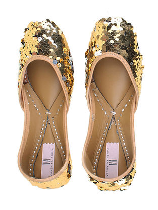 Gold, Silver Handcrafted Genuine Leather Juttis