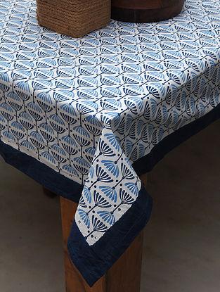 Blue Handblock Printed Table Cover