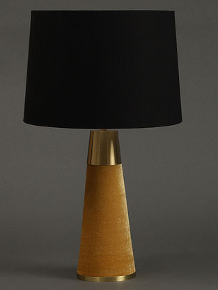 Yellow Table Lamp With Shade (H- 16.2in, Dia- 5.1in)
