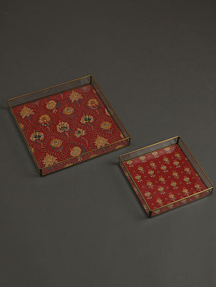 Lavana Red Tray (Set of 2)