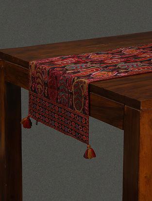 Red Mysore Silk Table Runner (L- 13.8in, W- 70.9in)