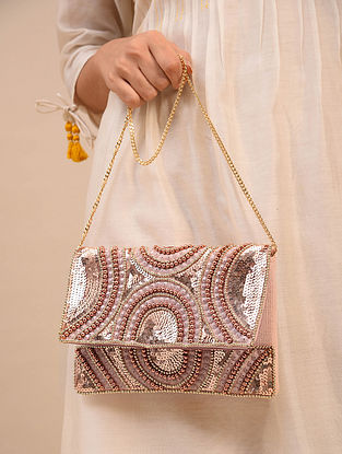 Multicolored Handcrafted Canvas Clutch
