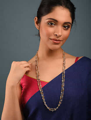 Rutile Beaded Silver Necklace