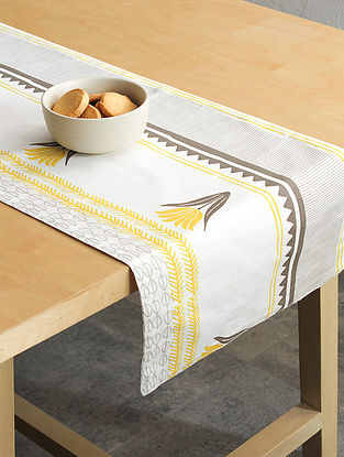 Yellow Handcrafted Cotton Table Runners (72inX13in)