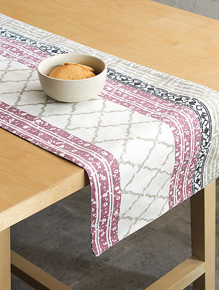Purple Handcrafted Cotton Table Runners (72inX13in)