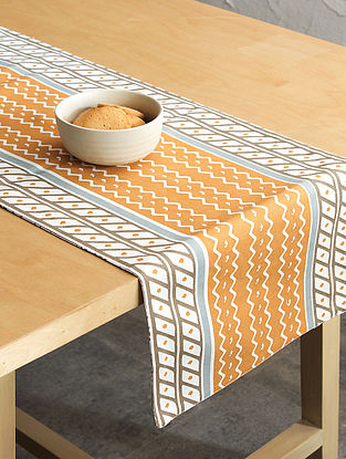 Orange Handcrafted Cotton Table Runners (72inX13in)