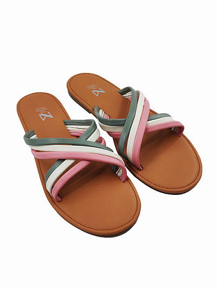 Multicolored Handcrafted Genuine Leather Flats