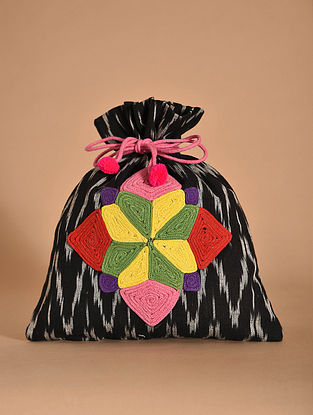 Multicolored Handmade Ikat Cotton Potli