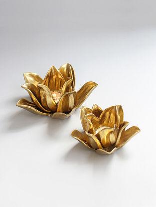 Lotus Gold Votive (Set of 2)