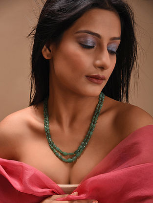 Green Emerald Beaded Necklace
