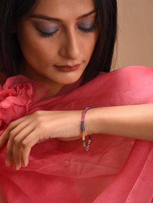 Multicolored Emerald Ruby Sapphire Beaded Bracelet