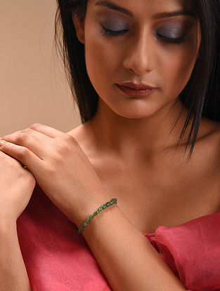 Green Emerald Beaded Bracelet