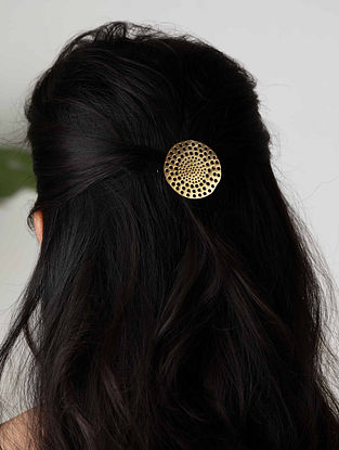 Gold Plated Handcrafted Hair Clip