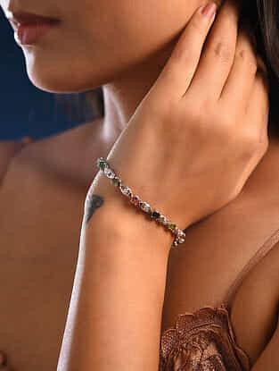 Multistone Silver Bracelet