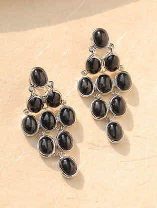 Blackstar Silver Earrings