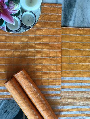 Mustard Linen Table Mat (Set Of 4) (L- 13in x W- 19in)