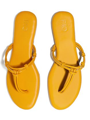 Yellow Handcrafted Vegan Leather Flats
