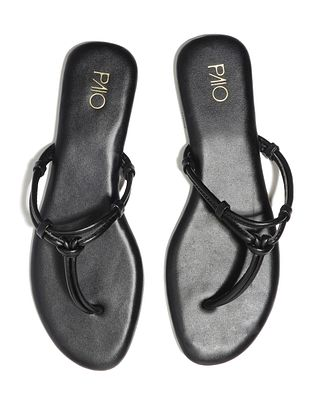 Black Handcrafted Vegan Leather Flats
