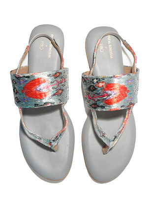 Grey Handcrafted Vegan Leather Sandals