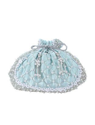 Blue Handcrafted Silk Potli