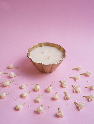 Bloom Brass Candle