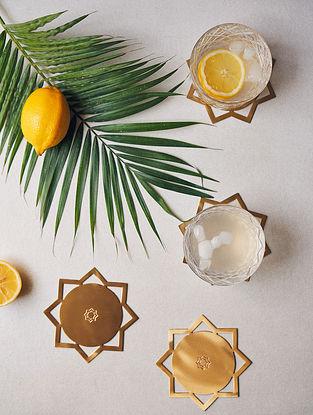 Sitara Gold Brass Coasters