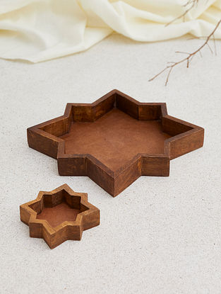 Leh Starts Wooden Cookie Cutters (Set of 2)