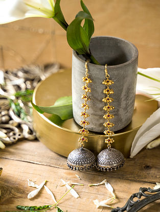 Dual Tone Jhumki earrings