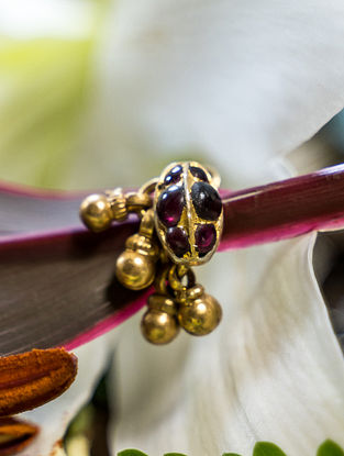 Red Gold Plated Silver Nose Pin