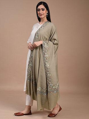 Grey Paper Mache Pashmina Shawl