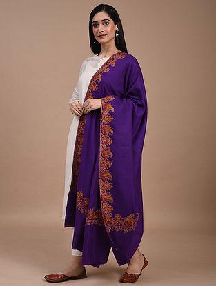 Purple Paper Mache Pashmina Shawl
