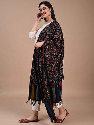 Black Handwoven Kani Jamawar Pashmina Shawl