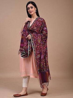 Maroon Handwoven Kani Jamawar Pashmina Shawl