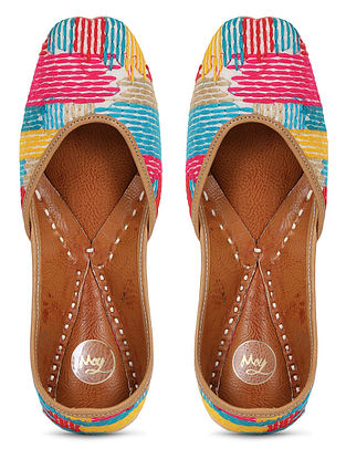 Multicolored Handcrafted Georgette Juttis