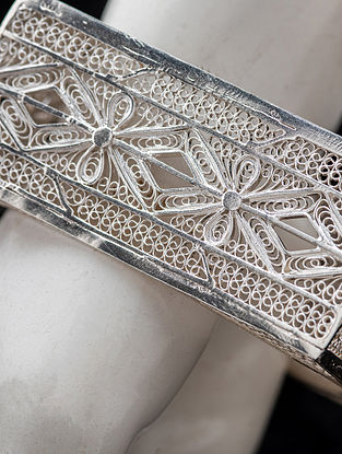 Filigree Silver Bangle (Size: 2.4 )