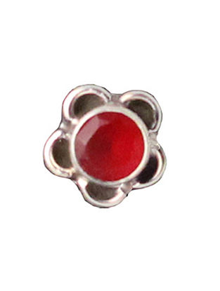 Red Sterling Silver Nosepin
