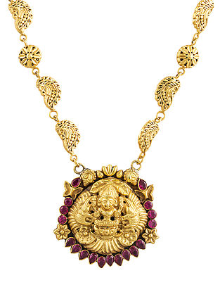 Red Gold Plated Sterling Silver Necklace
