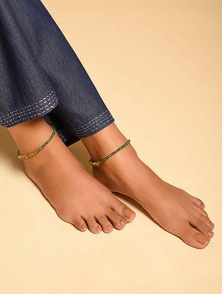 Green Yellow Aventurine Citrine Beaded Anklets