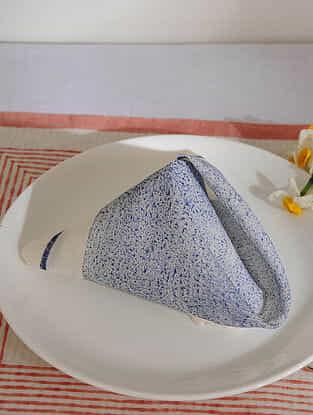 Indigo Cotton Table Napkin Set of 6 (15inX15in)