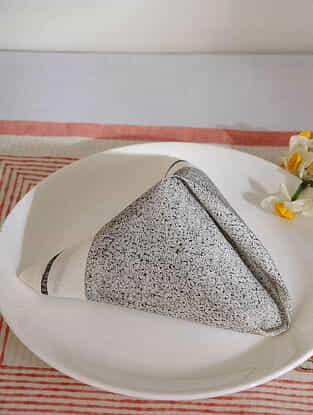 Black Cotton Table Napkin Set of 6(15inX15in)