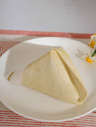 Yellow Cotton Table Napkin Set of 6 (15inX15in)